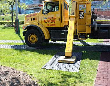Artificial Roadway Mats from ThomKess Crane Rentals in Ontario.