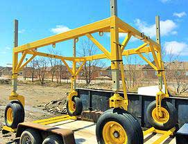 Roof Dollies Available From ThomKess Crane Rentals in Ontario.